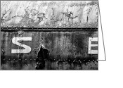 Christopher Holmes Greeting Cards - Weathered - BW Greeting Card by Christopher Holmes