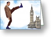 London England  Digital Art Greeting Cards - Welcome To England Greeting Card by Andrzej  Szczerski