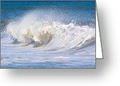 Judy Greeting Cards - Wellsfleet Waves  Greeting Card by Iconic Images Art Gallery David Pucciarelli