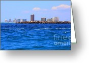 Panama City Beach Greeting Cards - What A View Greeting Card by Debra Forand