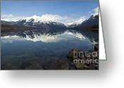 Daysray Photography Greeting Cards - When the Sun Shines on Glacier National Park Greeting Card by Fran Riley