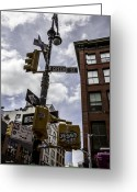 Madeline Ellis Greeting Cards - Where Green St Meets Spring - NYC Greeting Card by Madeline Ellis