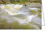 Escarpment Greeting Cards - Whirling Water Greeting Card by Charline Xia