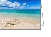 Beach Scenery Greeting Cards - White Sand Greeting Card by Chad Dutson