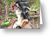 Thundercats Greeting Cards - Willa as Deer Greeting Card by Tori R