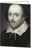 Featured Greeting Cards - William Shakespeare Greeting Card by English School