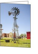 Drain Greeting Cards - Windpump Elk City Oklahoma Greeting Card by Deborah Smolinske