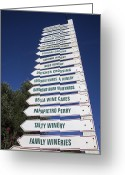 Direction Greeting Cards - Wine country signs Greeting Card by Garry Gay