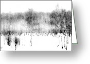 Aquarel Greeting Cards - Winter Painting II. Ink Drawing by nature by Nature Greeting Card by Jenny Rainbow