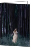 Anonymous Photo Greeting Cards - Woman In Forest Greeting Card by Joana Kruse