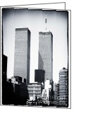 John Rizzuto Greeting Cards - World Trade Center 1990s Greeting Card by John Rizzuto