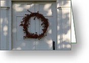 The Berkshires Greeting Cards - Wreath  Greeting Card by DustyFootPhotography