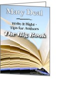 Mary Deal Greeting Cards - Write It Right - Tips for Authors - The Big Book Greeting Card by Mary Deal