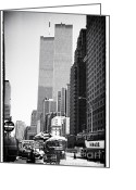 John Rizzuto Greeting Cards - WTC 1990s Greeting Card by John Rizzuto
