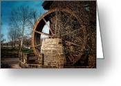 Spring Time Greeting Cards - Ye Olde Mill Greeting Card by Tom Mc Nemar
