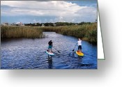 Grayton Beach Greeting Cards - YOLO Boarding Greeting Card by Tanya Thorne