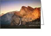 Summit Greeting Cards - Yosemite Sunset Greeting Card by Jane Rix