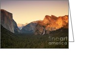Summit Greeting Cards - Yosemite Valley Sunset Greeting Card by Jane Rix