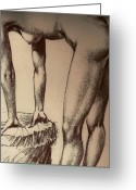 Life Drawing Mixed Media Greeting Cards - You Gonna Like This Greeting Card by Michael Knight