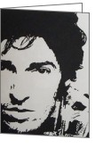 Springsteen Painting Greeting Cards - Young Boss Greeting Card by IDGoodall