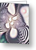 Computer Art And Digital Art Greeting Cards - Zebra Phantasm Greeting Card by Anastasiya Malakhova
