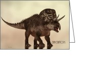 Natural History Greeting Cards - Zuniceratops Dinosaur Greeting Card by Bob Orsillo