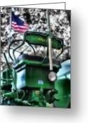 John Deere Greeting Cards -  John Deere American Tractor Greeting Card by Ben Michalski
