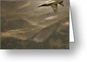Superhornet Greeting Cards - Axalp Airshow Greeting Card by Angel  Tarantella
