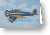 Murray Mcleod Greeting Cards - Boeing P26 Greeting Card by Murray McLeod