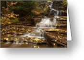 Buttermilk Greeting Cards - Cascade Greeting Card by Eric Foltz