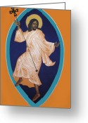 Jesus Christ Icon Greeting Cards - Dancing Christ Greeting Card by Mark Dukes