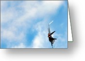 Afterburner Greeting Cards - F-18 Superhornet Greeting Card by Angel  Tarantella