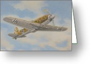 Murray Mcleod Greeting Cards - Flight of the Folgore Greeting Card by Murray McLeod