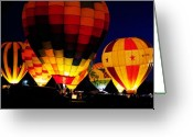 Clayton Photo Greeting Cards - Glowing Greeting Card by Clayton Bruster