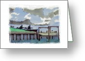 Social Comment Greeting Cards - Lamberts Point Greeting Card by Robert Boyette