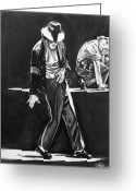 Michael Jackson Greeting Cards - Michael Jackson III Greeting Card by Toni  Thorne