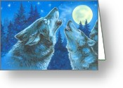 Moonlight Greeting Cards - Moon Song Greeting Card by Richard De Wolfe