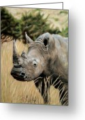 Family Pastels Greeting Cards - Plains Warrior Greeting Card by Carol McCarty