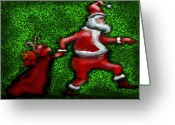 Santa Claus Greeting Cards - Santa Claus Greeting Card by Kevin Middleton