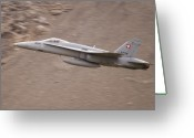 Superhornet Greeting Cards - Supersonic Greeting Card by Angel  Tarantella