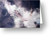 Skydiving Greeting Cards - The Art Of Falling Down Greeting Card by Angel  Tarantella