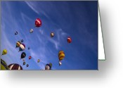 Balloon Fiesta Greeting Cards - The Lounge Greeting Card by Angel  Tarantella