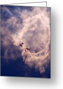 Skydiving Greeting Cards - the Swirl Greeting Card by Angel  Tarantella