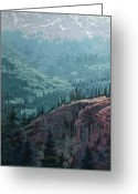 Klondike Greeting Cards - White Pass to the Klondike Greeting Card by Donald Maier
