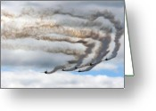 Yak Greeting Cards - Aerostars Yak-50 Display Team Greeting Card by Angel  Tarantella