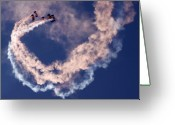 Skydiving Greeting Cards - Skydivers Greeting Card by Angel  Tarantella