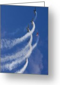 Yak Greeting Cards - Aerostars Yak-50 Team Greeting Card by Angel  Tarantella