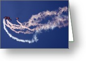 Skydiving Greeting Cards - RAF Falcons Greeting Card by Angel  Tarantella