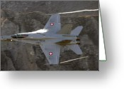 F-18 Greeting Cards - Supersonic Greeting Card by Angel  Tarantella