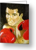 Keenya Woods Greeting Cards - Ali- I AM THE GREATEST Greeting Card by Keenya  Woods